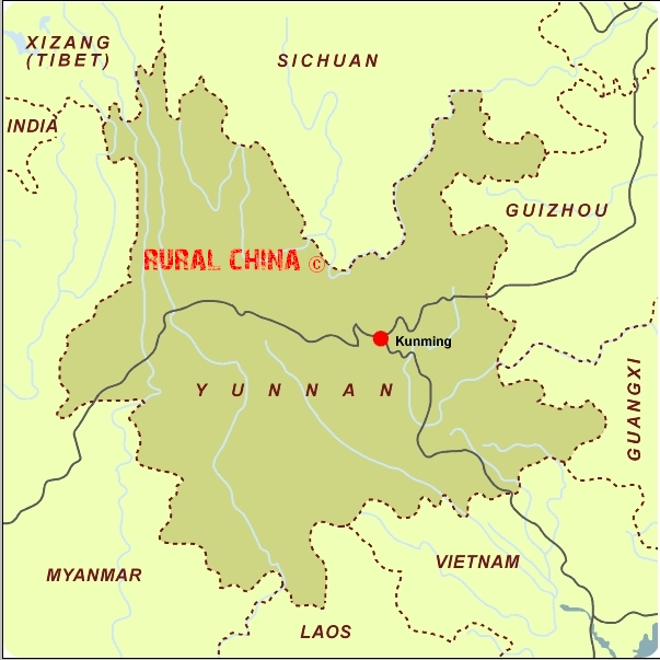Rural China Maps Kunming Map