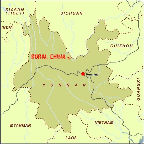 Rural china maps kunming map kunming city map kunming prefecture map kunming yunnan map gumiabroncs Choice Image