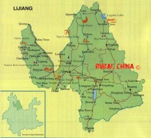 Lijang Area Map