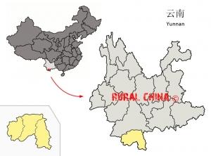 Xishuangbanna prefecture map