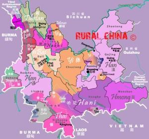 Yunnan Minority Map