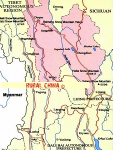 Zhongdian Map