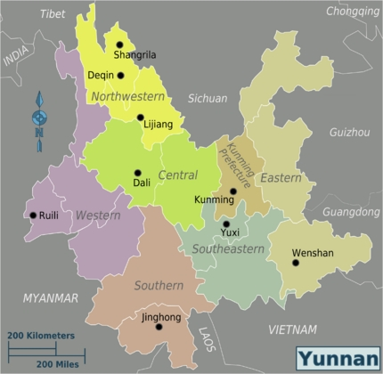 Yunnan District Map