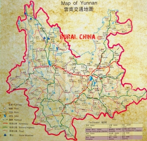 Yunnan Province Detailed Map